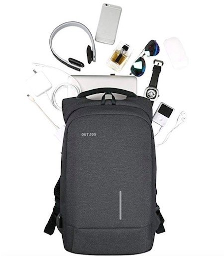 01-1 OUTJOY Backpack with hidden compartments