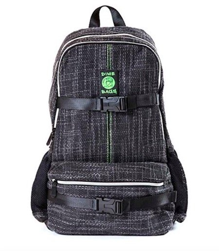 Dime Bags Skatepack backpack with internal hidden pocket and smell proof bag