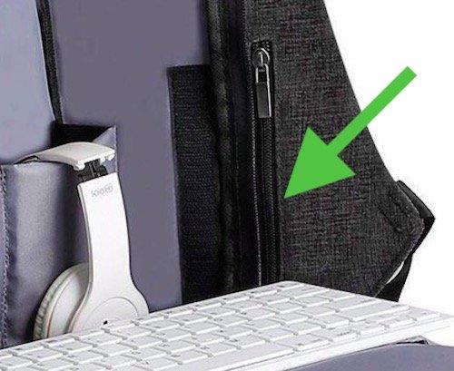 Mark Ryden Anti-theft Backpack side panel hidden pocket