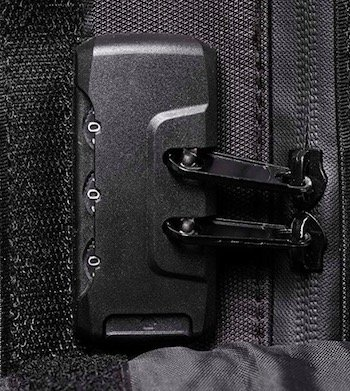 Smell Proof Backpack w: Combo Lock and Hidden Stash Pocket combo zipper lock