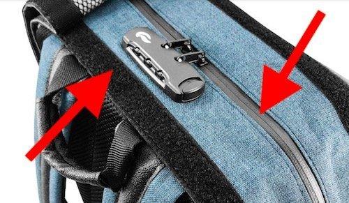 skunk smell proof backpack hidden combo lock